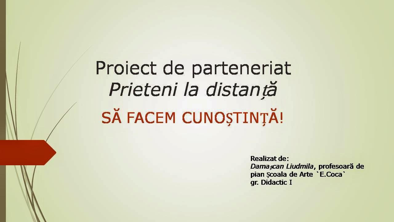 sa facem cunostinta proiect didactic