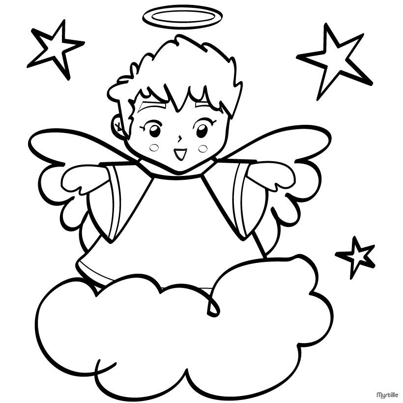 Disegni Di Angeli Custodi Da Colorare