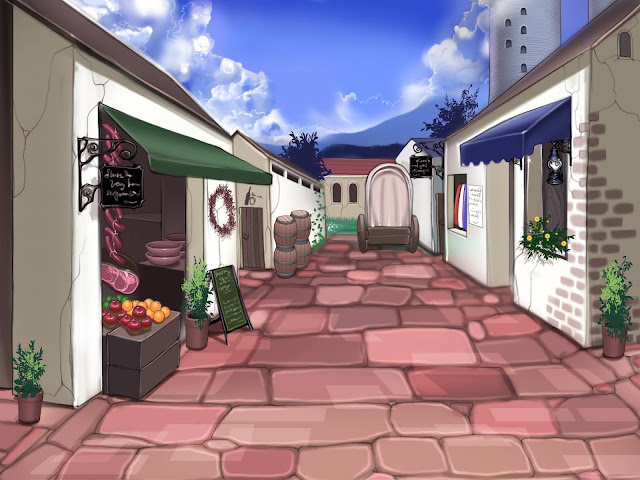 Medieval Street Store (Anime Background)