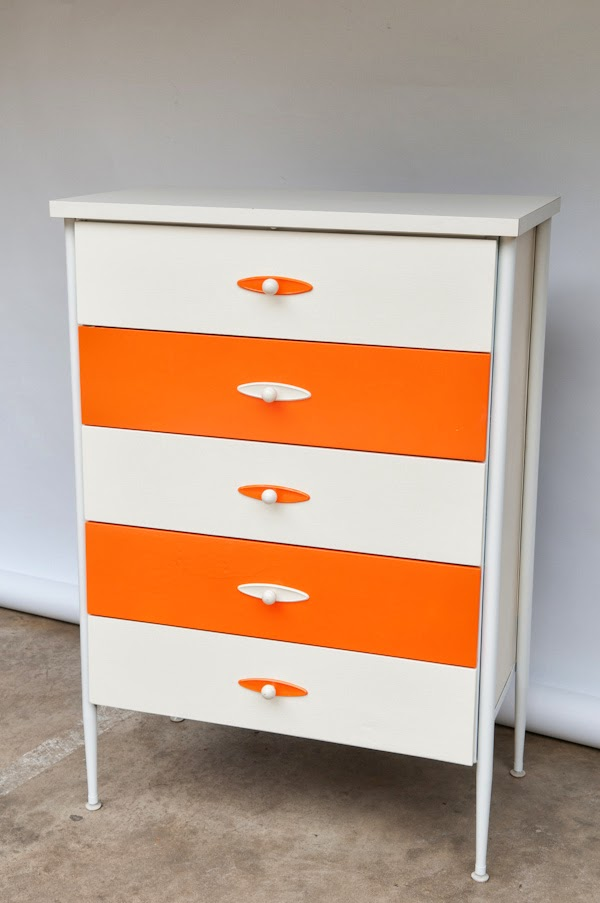 Heygreenie Vintage 60 S Modern Highboy Dresser 5 Drawer