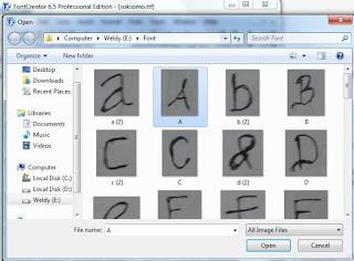 membuat font tanpa scanner di font creator