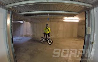 Foto alla partenza: io e la mia bicicletta pieghevole Hoptown 5