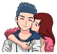 Best comment for Girls and Boys Pic - animation love couple pic
