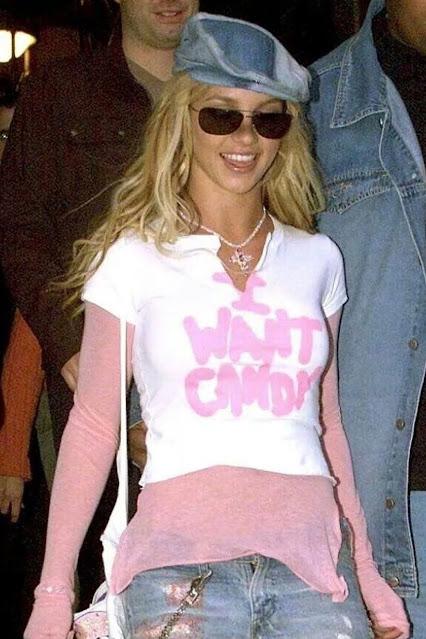 Britney Spears 'I WANT CANDY' slogan tee.  PYGear.com