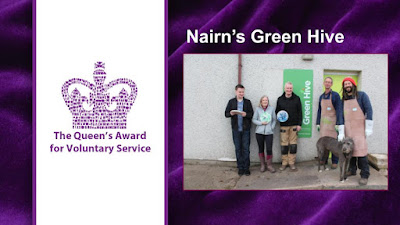 Photo of the Green Hive team outside their workshop in Nairn