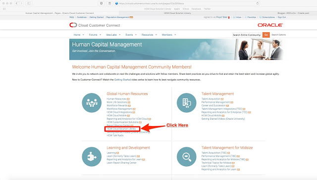 Imagine If You Will - The Oracle HCM Cloud Solution Library