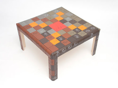 Diseño de mesa con material reciclado