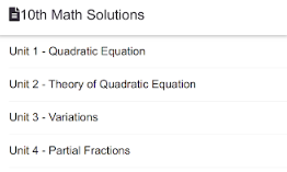 Matric 10th Class Math Solutions and Notes Download