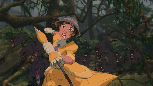 Jane Porter in jungle Tarzan 1999 animatedfilmreviews.filminspector.com