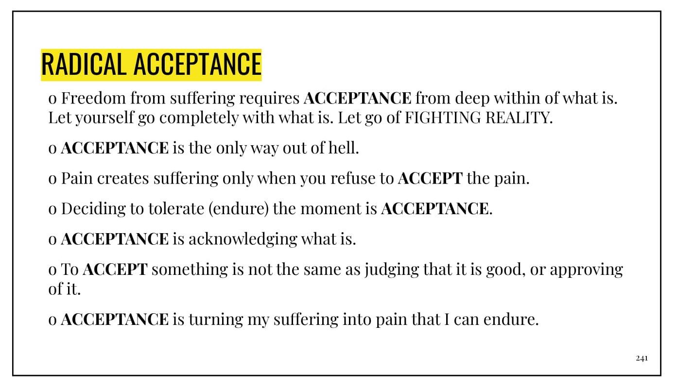 Emotional Empowerment Distress Tolerance