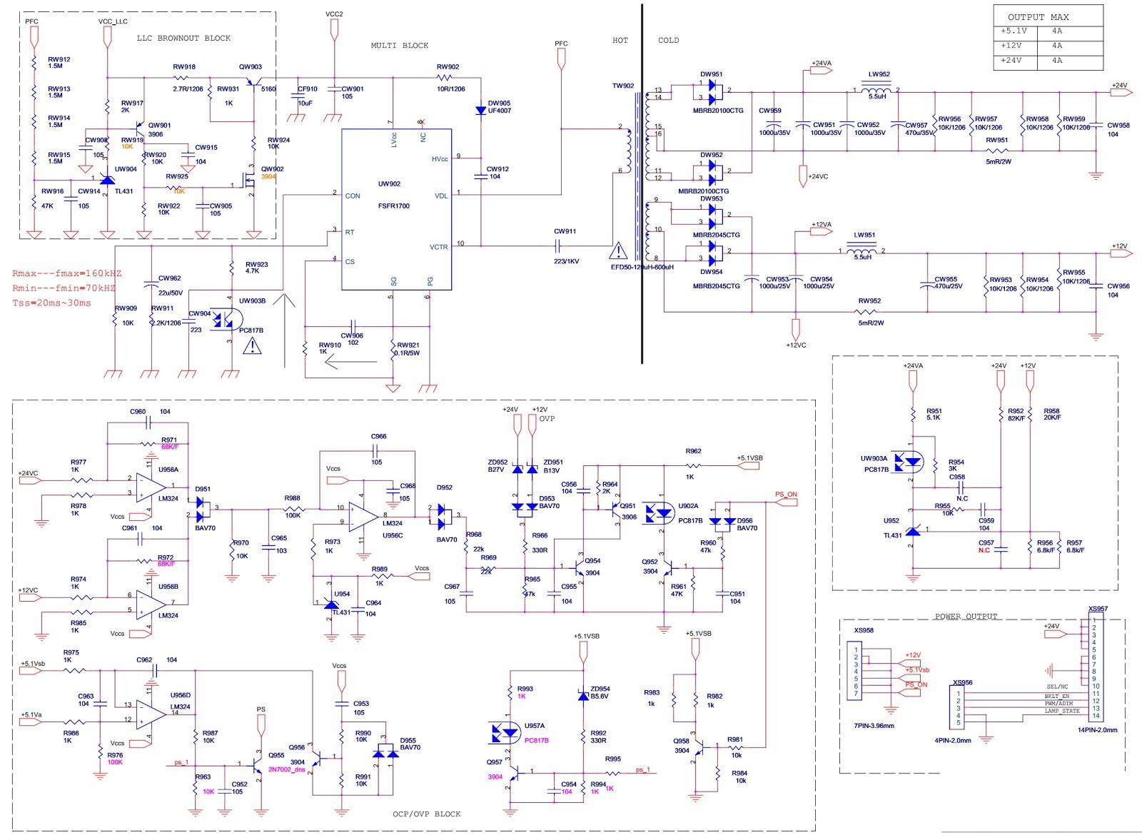 Thomson KPS-L180C3-02 SMPS schematic (Circuit diagram) | Schematic ...