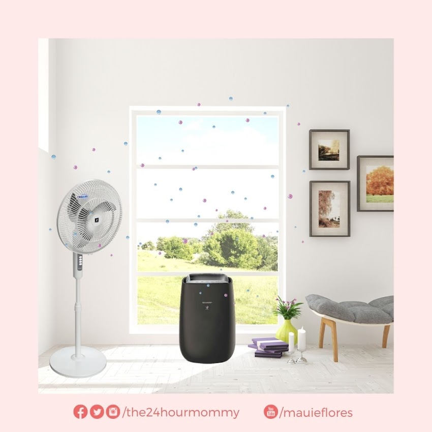 Sharp's Plasmacluster Ion and unique Airflow Technology guarantees cleaner indoor air