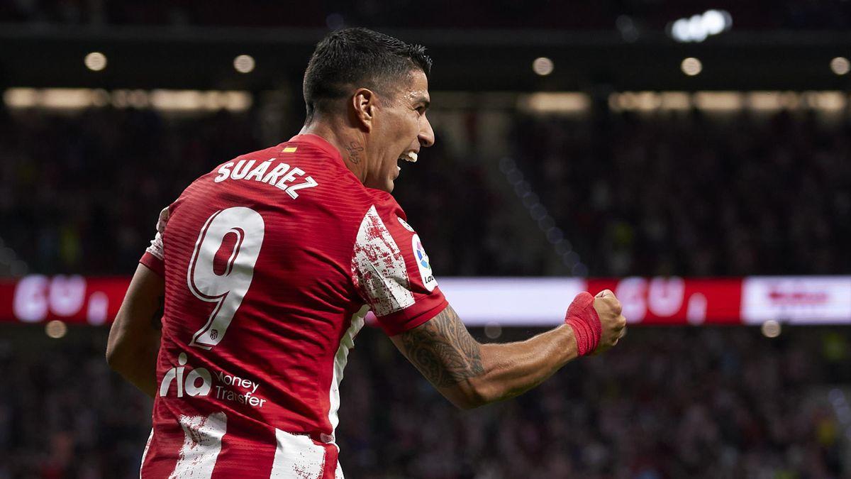 Atletico Madrid striker Luis Suarez