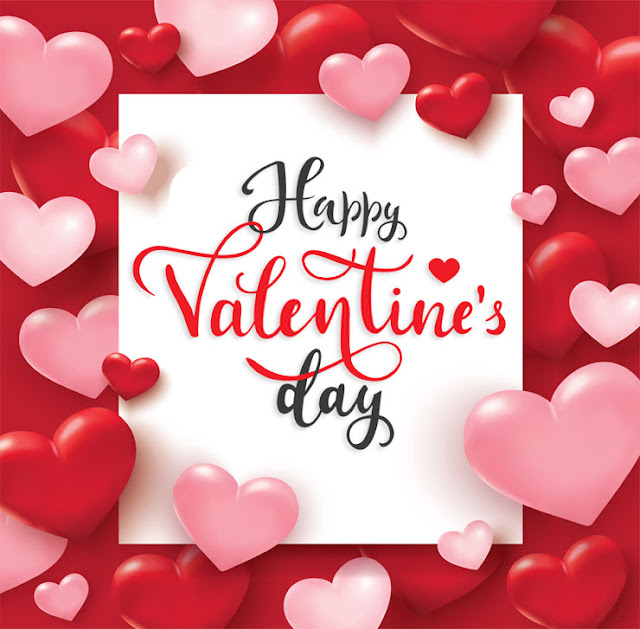 Valentine's Day pink and red heart love Image