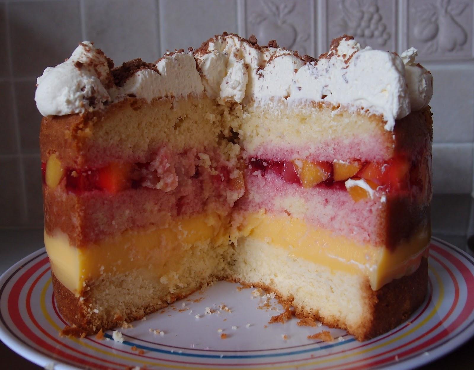 Fruit And Jelly Cake Recipe: The Caked Crusader: Trifle Sponge Cake