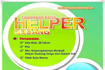 Lowongan Kerja Helper Gudang CV. Sasana Aneka Pangan