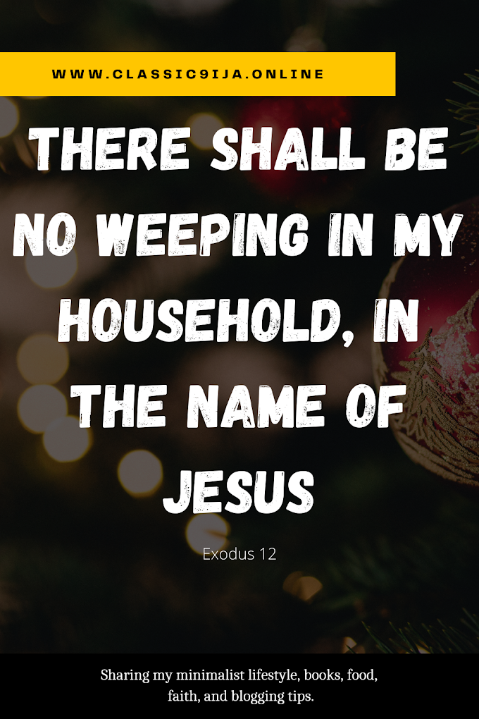 There Shall be no Weeping in my Household (Exodus 12)