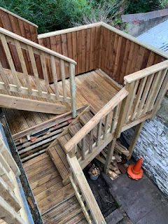 external timber staircase wales