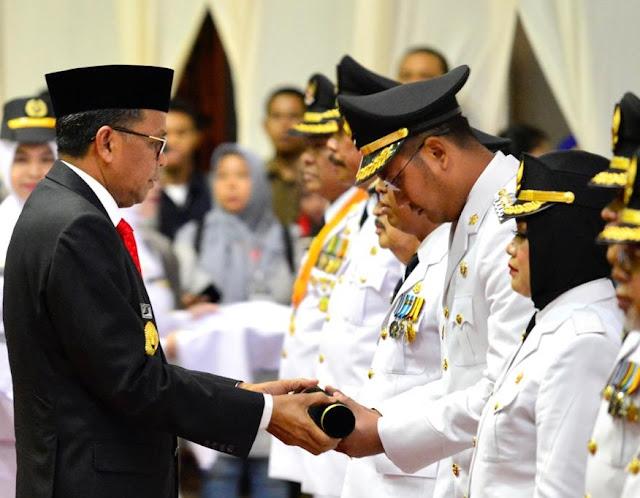 Gubernur Sulsel Lantik Bupati dan Wakil Bupati Sinjai