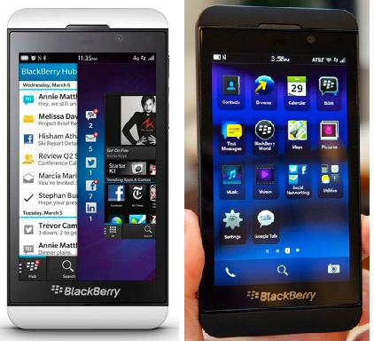 Blackberry (BB) Z10 LTE 4G and Q10, All BBOS 10 with 70 000 Apps