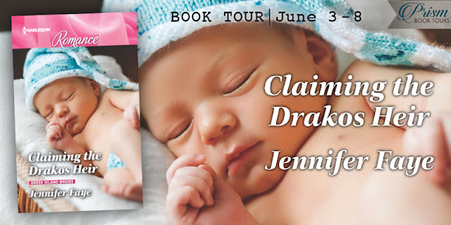 Prism Book Tours Review: Claiming The Drakos Heir by Jennifer Faye