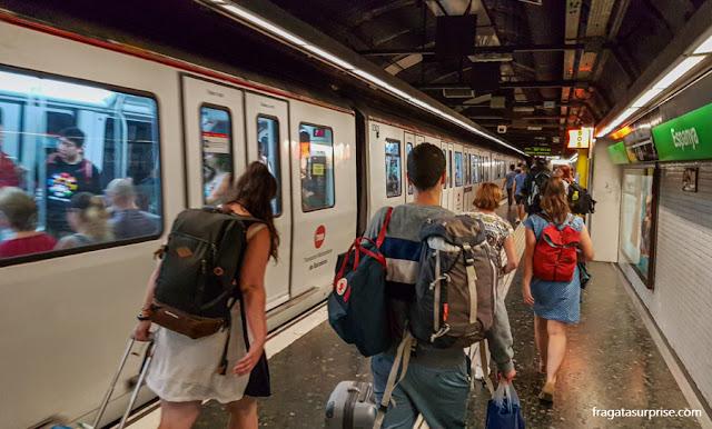 Estação de metrô Plaça d'Espanya, Barcelona