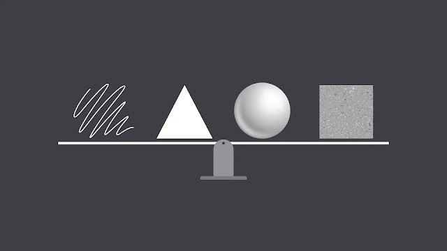 4 elements of graphic design including texture, line, form and shape