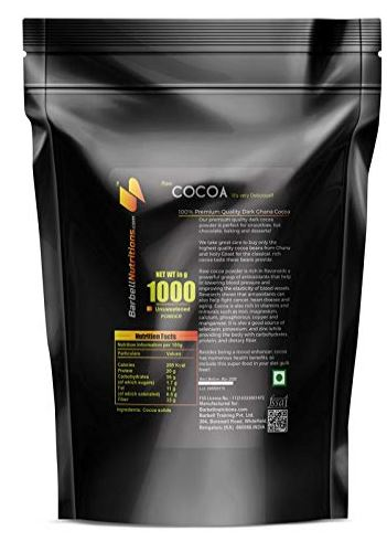 Barbell Nutrition's Cocoa Powder
