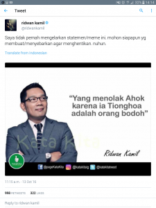 Heboooh! Halaman Facebook Katakita Milik Ahoker Ini Akhirnya Tumbang. Muslim Bersatu, Tak Bisa Dikalahkan!