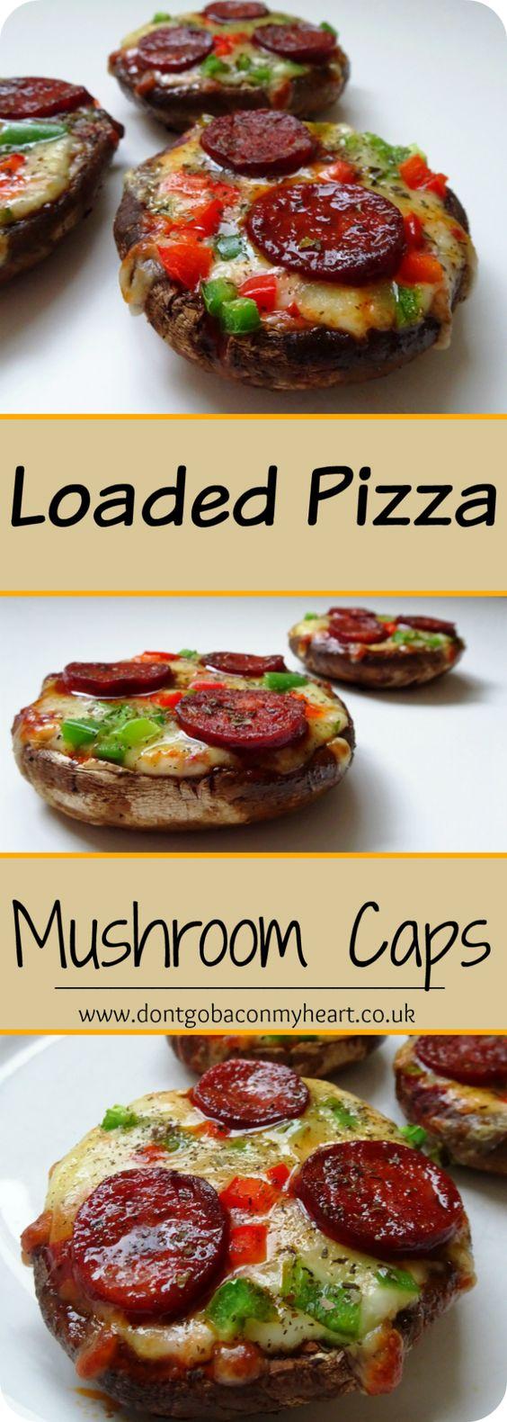 KETO,low carb/Pizza Stuffed Portobello( Mushrooms)