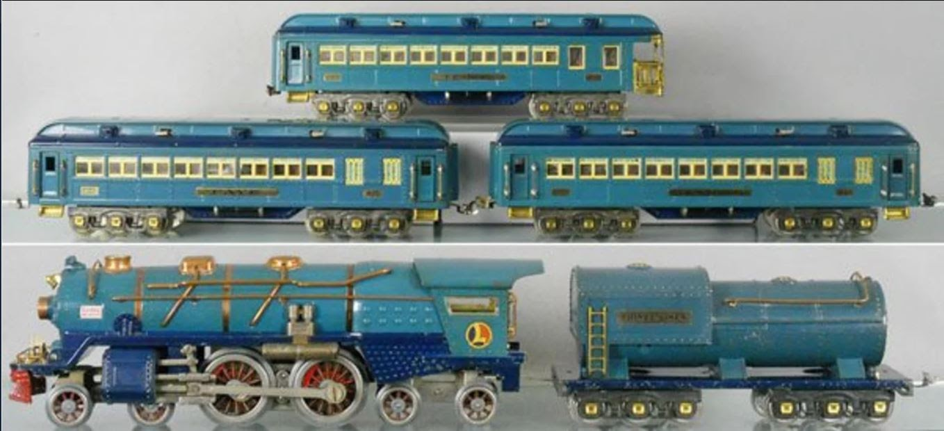 Finding Beauty In Ephemera Lessons From York What We Saw Lionel Postwar Wiring Diagrams An Original 1930s Standard Gauge Blue Comet Looks Nice On A Shelf
