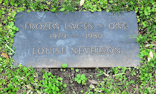 "Metal sculpture titled ""Frozen Laces - One"" (1979-1980) by Louise Nevelson"