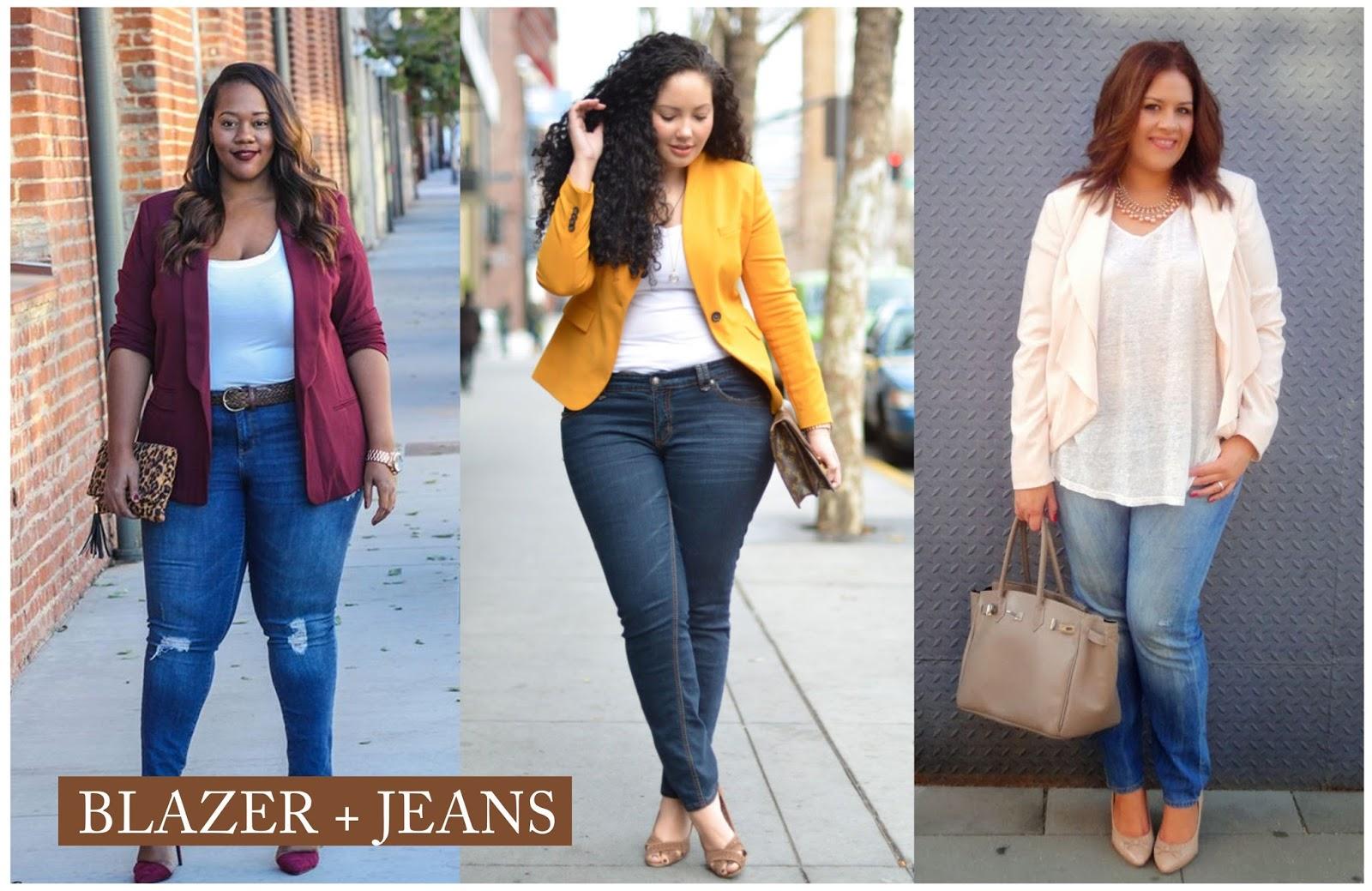 e8a37b737e A dupla calça jeans e blazer é a combinação mais fácil que pode ser feita.  A combinação é certeira e mistura o clássico blazer com o moderno e  despojado do ...