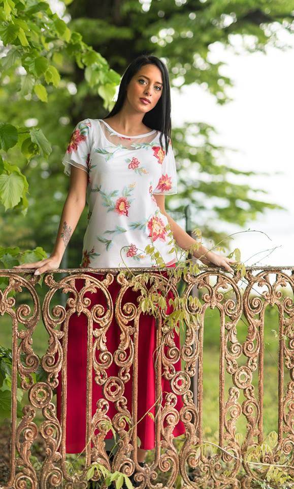 qvc moda bianca della torre blusa con fiori