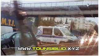 (بالصور) عاجل / بسبب الأمطار الغزيرة : تصادم 12 سيّارة من بينها سيارة إسعاف