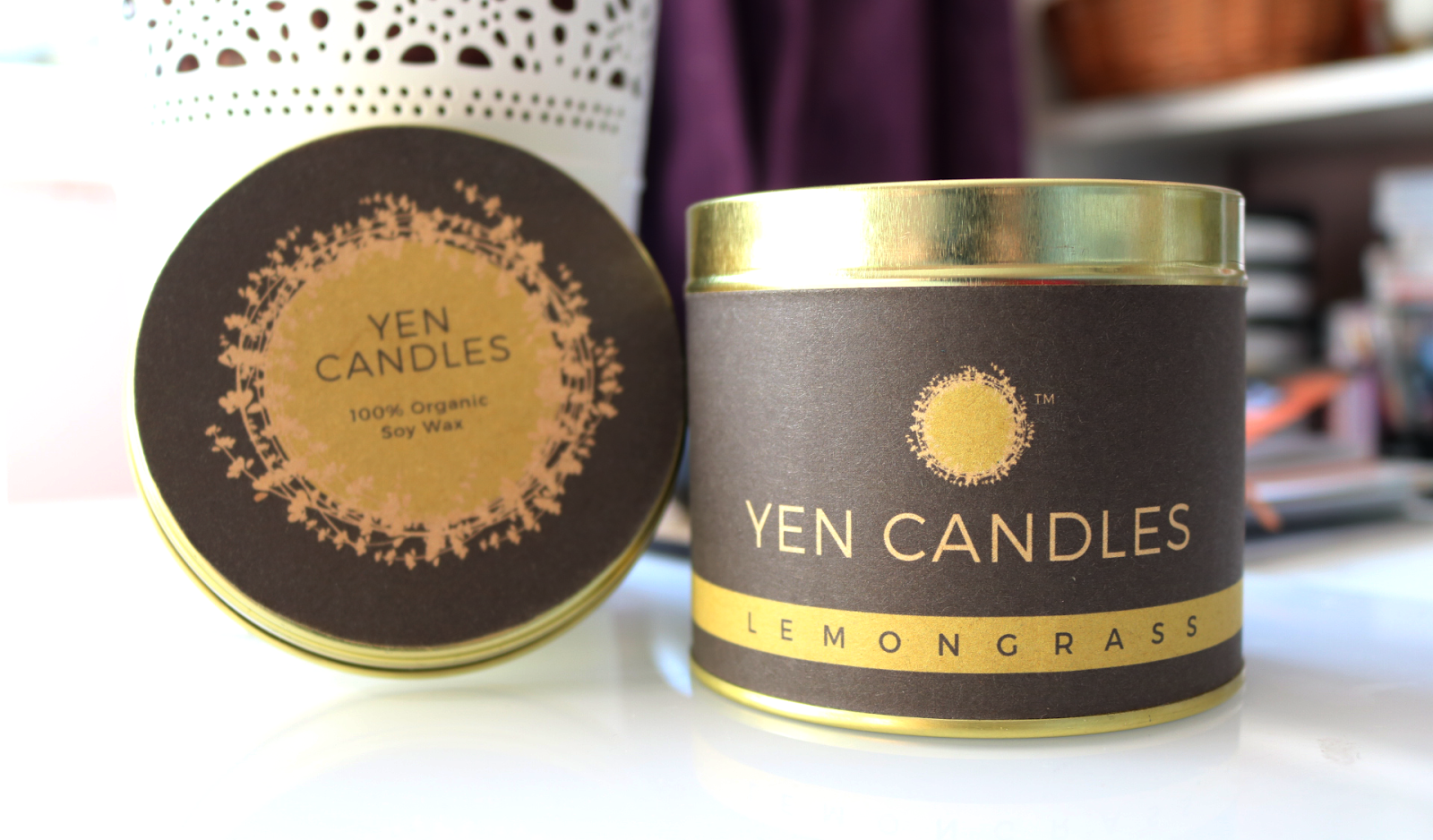 Yen Candles - 100% Organic Soy Wax Candle in Lemongrass review