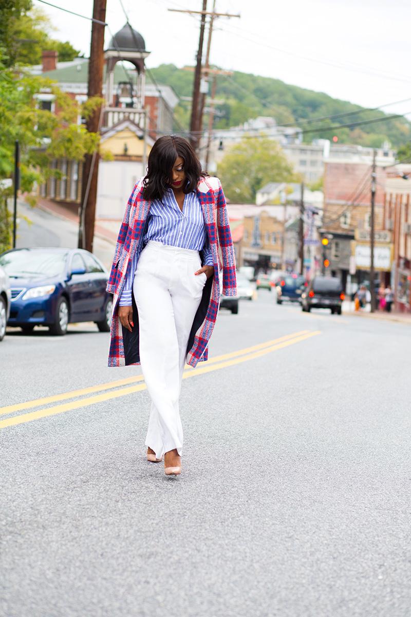 Streetstyle, Zara statement coat, wide leg pants