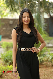 Telugu Actress Rukhsar Mir Stills in Black Long Dress at Aakatayi Movie First Look Launch  0035.JPG