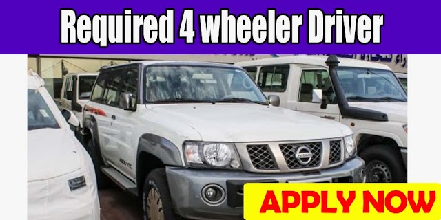 Required 4 wheeler Driver