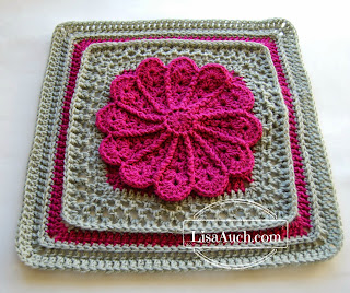 12 inch afghan square pattern free