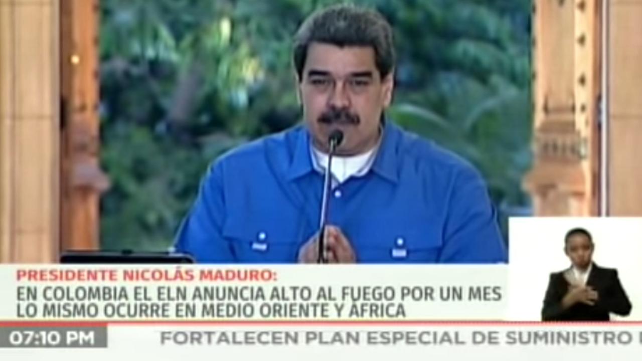 Alto al fuego: Pdte. Maduro llamó a un acuerdo humanitario, al cese de agresiones