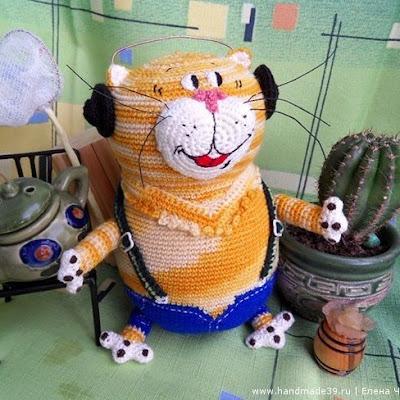 Кот Таити амигуруми