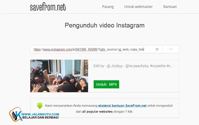 5 Situs Tampat Download Video Instagram Paling Mudah