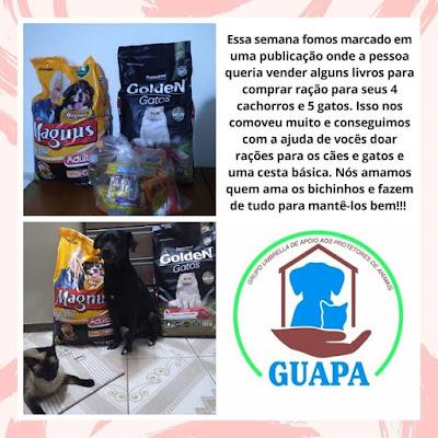 GUAPA - Rações para 4 Cachorros e 5 Gatos