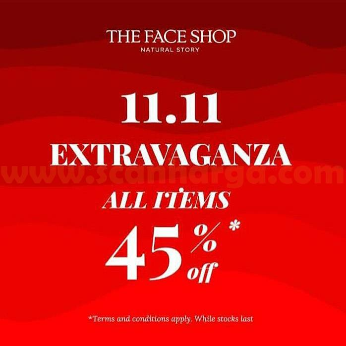 The Face Shop Promo 11.11 - Disc up to 45% all items