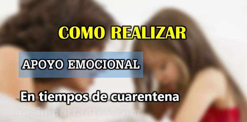 apoyo emocional a los niños en cuarentena