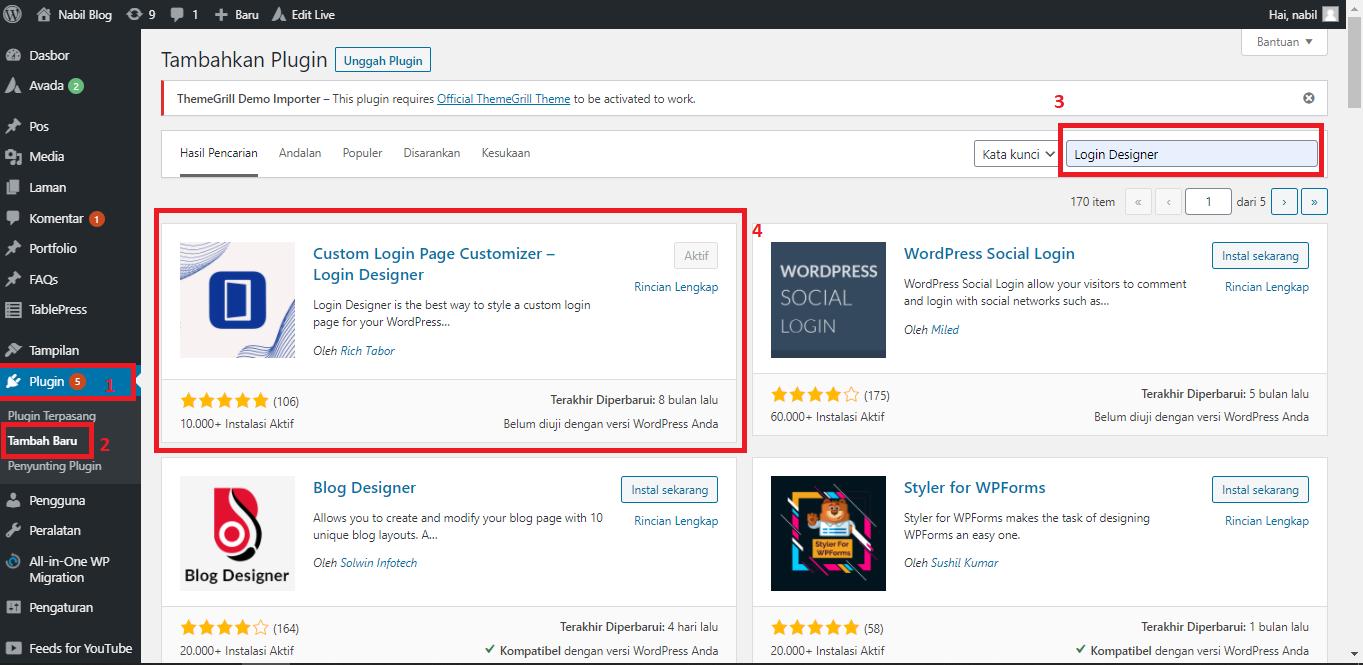 merubah tampilan halaman login wordpress