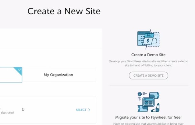 create website on your account