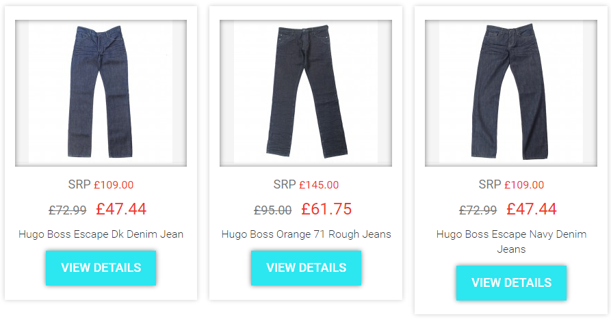 924f13a4646 JEANS. MANY MORE HUGO BOSS ITEMS AND OTHER DESIGNER BRANDS ON SALE WITH UP  TO 50% OFF AT:
