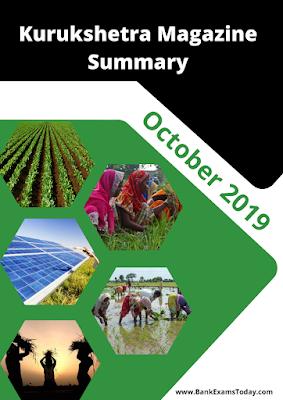 Kurukshetra Magazine Summary: October 2019